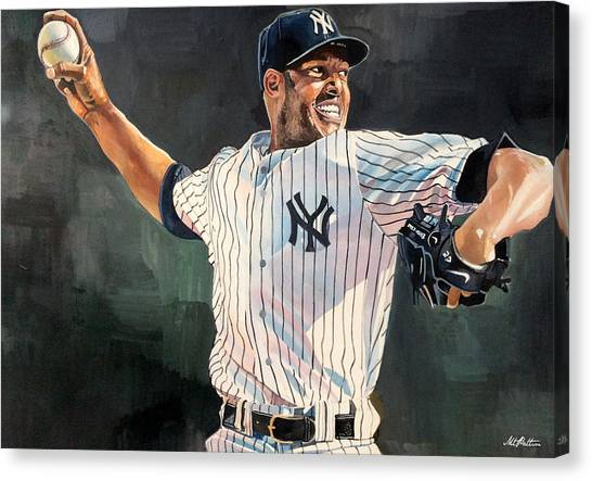 Derek Jeter Canvas Print - Mariano Rivera - New York Yankees by Michael  Pattison