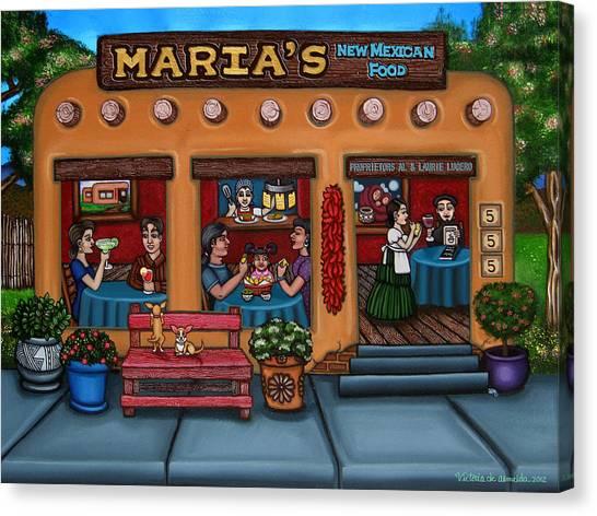 Salsa Canvas Print - Maria's New Mexican Restaurant by Victoria De Almeida