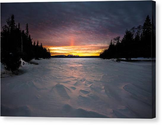 Sleeping Giant Canvas Print - Marie Louise Lake Sunset by Jakub Sisak