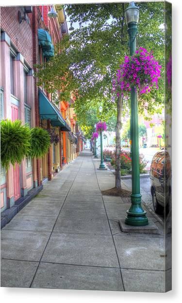 Marietta Sidewalk Canvas Print