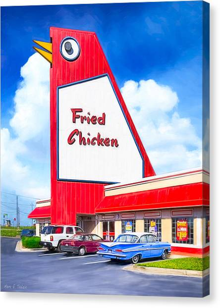 Canvas Print featuring the photograph Marietta's Big Chicken by Mark E Tisdale