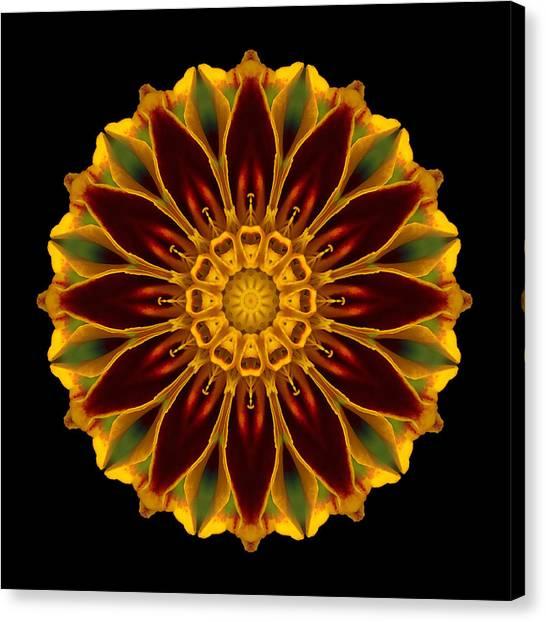Marigold Flower Mandala Canvas Print