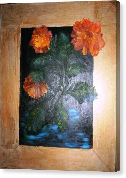 Marigolds Canvas Print by Karen Lipek