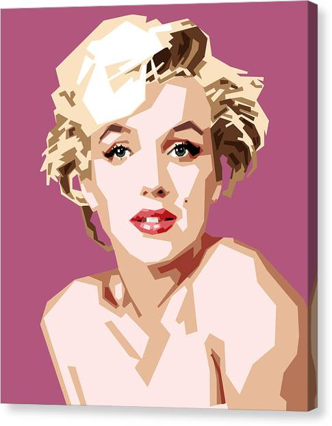 Marilyn Monroe Canvas Print - Marilyn by Douglas Simonson