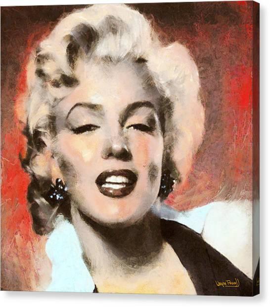 Marilyn In Retro Color Canvas Print