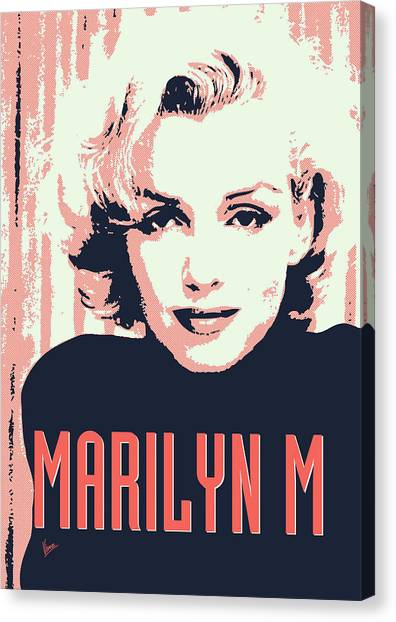 Marilyn Monroe Canvas Print - Marilyn M by Chungkong Art