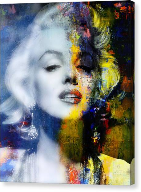 Marilyn Monroe Canvas Print - Marilyn by Mal Bray
