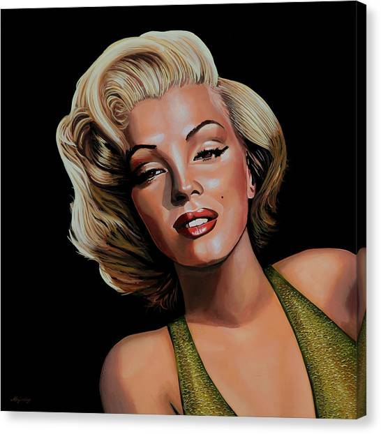 Vogue Canvas Print - Marilyn Monroe 2 by Paul Meijering