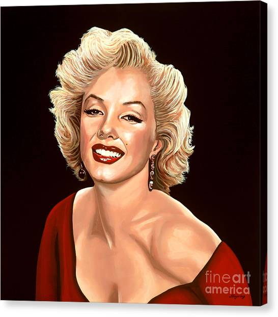Diamonds Canvas Print - Marilyn Monroe 3 by Paul Meijering