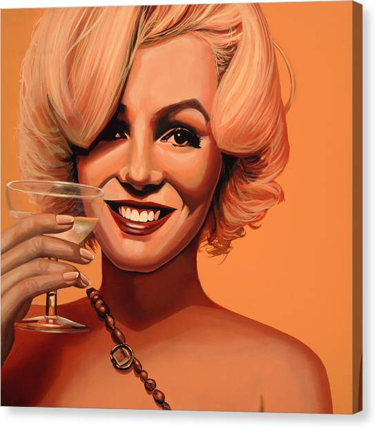 Diamonds Canvas Print - Marilyn Monroe 5 by Paul Meijering
