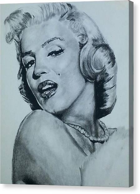 Marilyn Monroe Canvas Print by Aaron Balderas