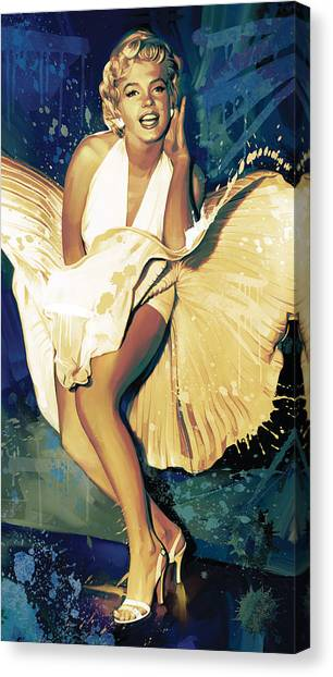 Marilyn Monroe Canvas Print - Marilyn Monroe Artwork 4 by Sheraz A