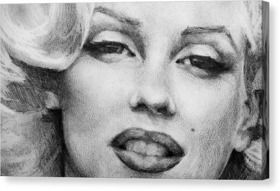 Marilyn Monroe - Close Up Canvas Print