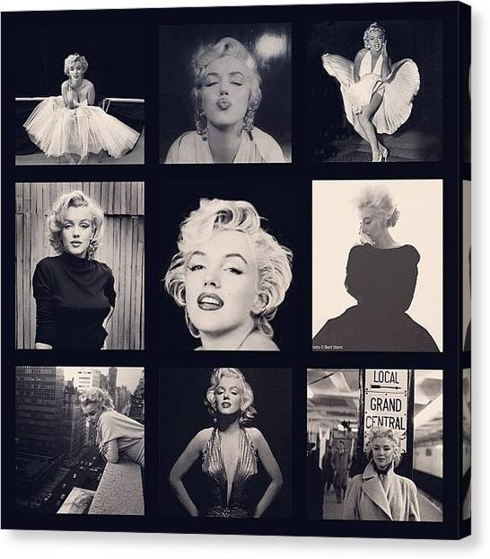 Marilyn Monroe Canvas Print - #marilyn #monroe #collage #pinup by Sharyn Omalley