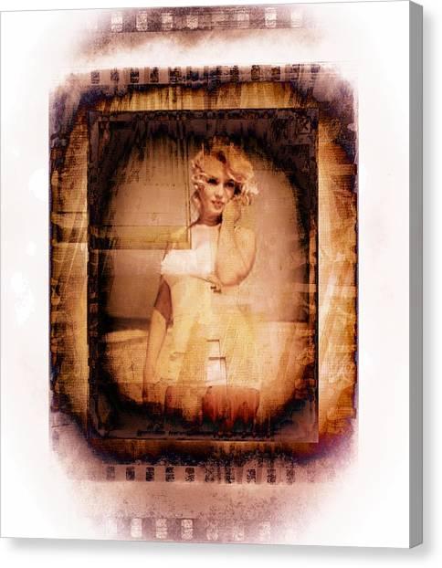 Marilyn Monroe Film Canvas Print