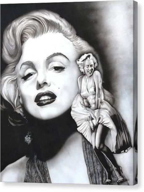 Marilyn Monroe Mural Canvas Print