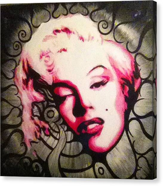 Marilyn Monroe Canvas Print - Marilyn Monroe Painting #marilyn by Ocean Clark