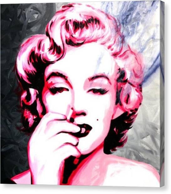 Marilyn Monroe Canvas Print - Marilyn Monroe Painting Original On by Ocean Clark