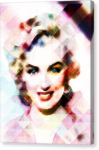 Marilyn Monroe Pastel Canvas Print
