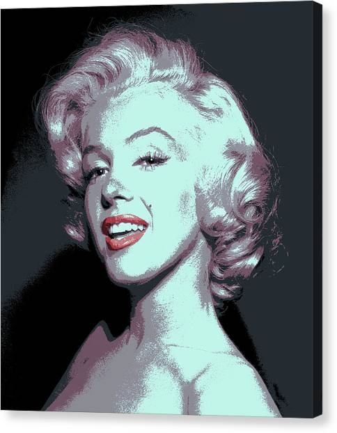 Beauty Mark Canvas Print - Marilyn Monroe Pop Art by Daniel Hagerman