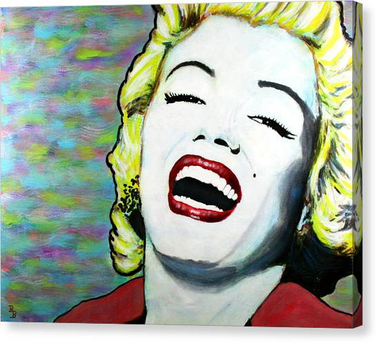 Marilyn Monroe Portrait Bright Laugh Canvas Print