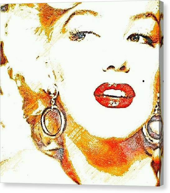 Marilyn Monroe Canvas Print - #marilyn #monroe #screen #goddess by Ant Jones