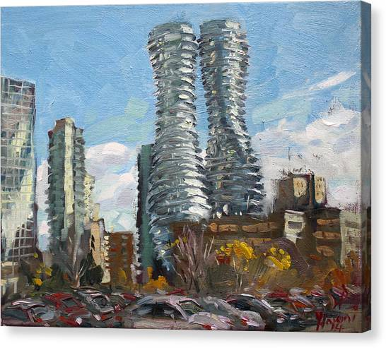 Ontario Canvas Print - Marilyn Monroe Towers In Mississauga by Ylli Haruni