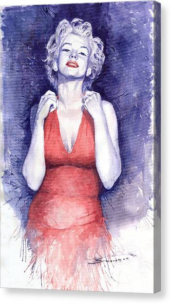 Actors Canvas Print - Marilyn Monroe by Yuriy Shevchuk