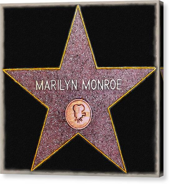 Marilyn Monroe's Star Painting  Canvas Print
