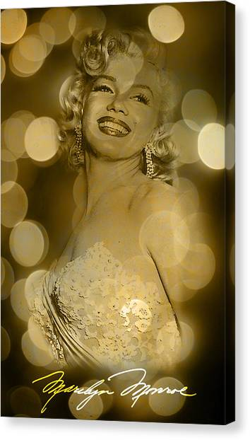 Marilyn Sparkles Canvas Print