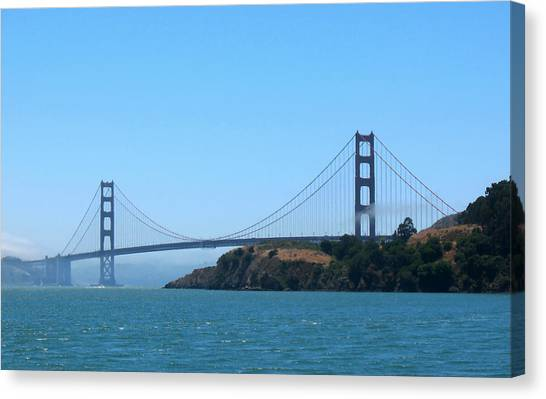 Marin County View Of The Golden Gate Bridge Canvas Print