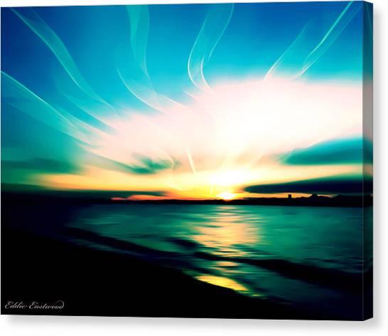 Marina Beach Park At Edmonds Washington Waterfront Canvas Print