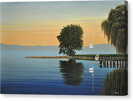 Marina Morning Canvas Print