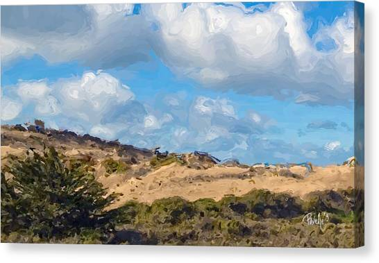 Marina State Beach Dunes Iv Canvas Print by Jim Pavelle