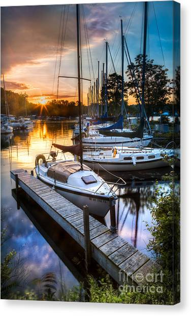Marina Sunrise Canvas Print