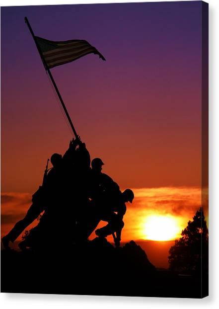 Marine Corps Memorial Canvas Print