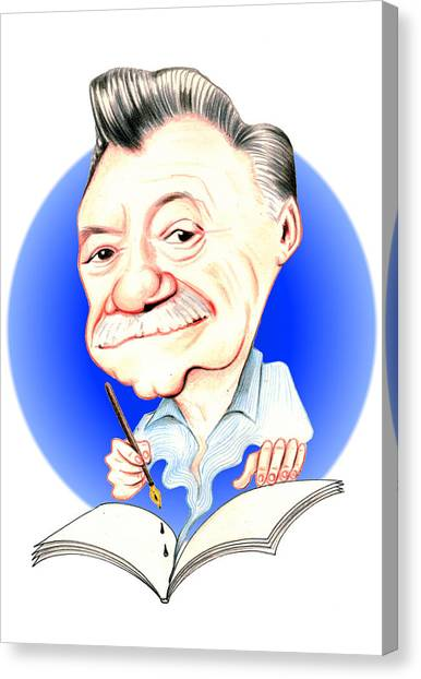 Mario Benedetti Illustration Canvas Print by Diego Abelenda