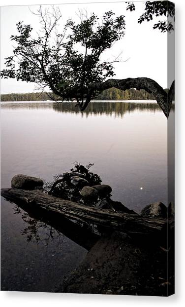 Marion Lake And The Moon Canvas Print