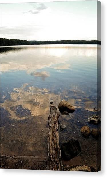 Marion Lake Reflections Canvas Print