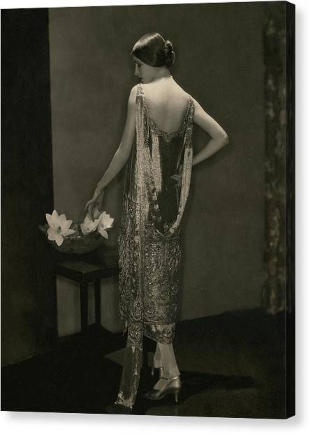 Marion Morehouse Wearing A Chanel Dress Canvas Print