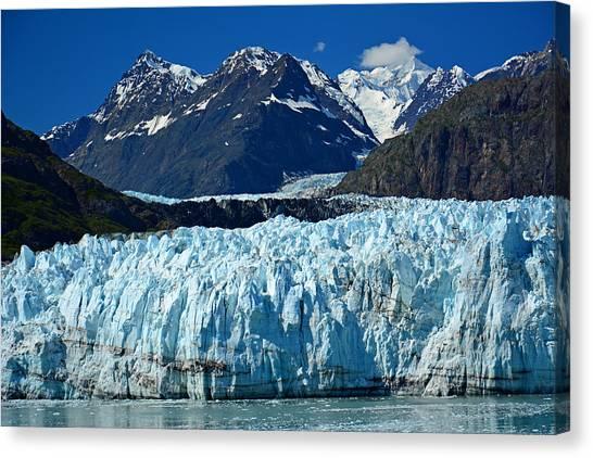 Margerie Glacier Canvas Print - Marjerie Glacier In Glacier Bay In Alaska by Nina Bowling