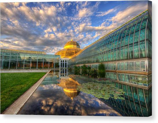 Marjorie Mcneely Conservatory Evening  Canvas Print