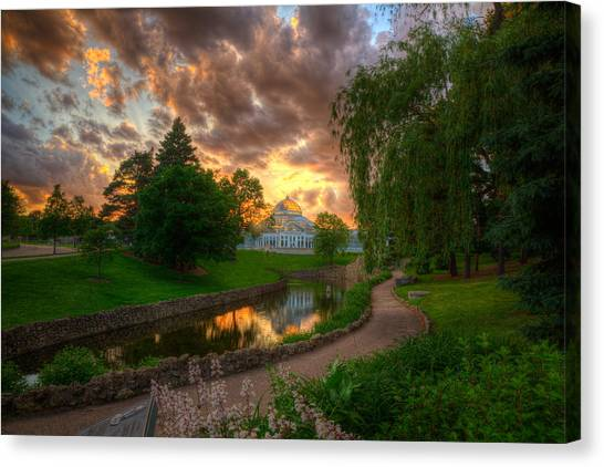 Marjorie Mcneely Conservatory Reflections Canvas Print