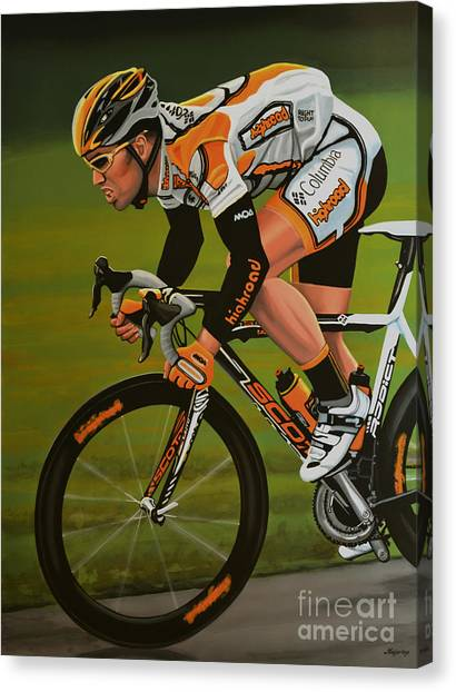 Goal Canvas Print - Mark Cavendish by Paul Meijering