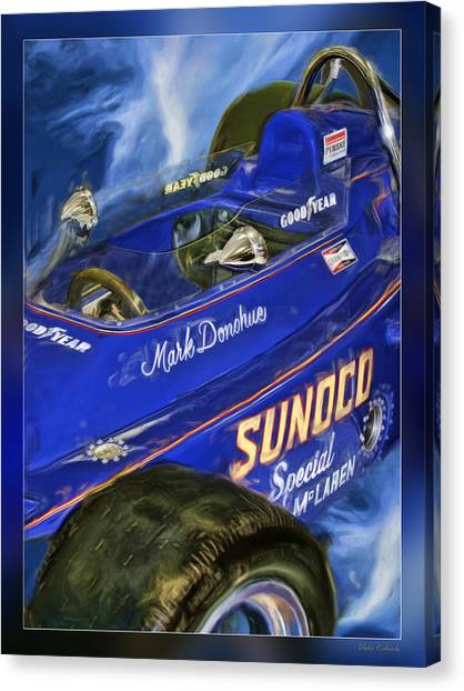 Mark Donohue 1972 Indy 500 Winning Car Canvas Print