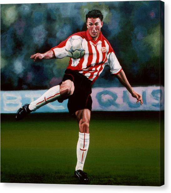 Ac Milan Canvas Print - Mark Van Bommel by Paul Meijering