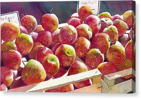 Market Apples Canvas Print
