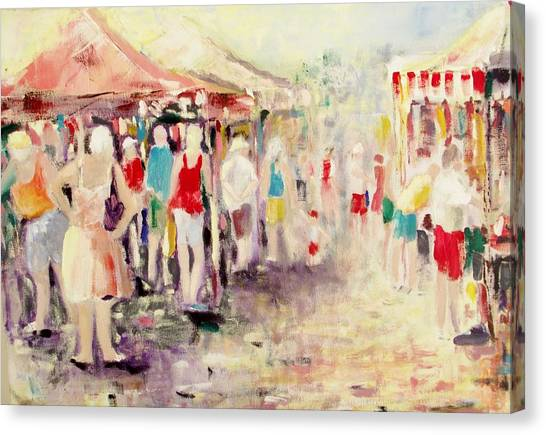 Market Day Canvas Print by Ken Parkes