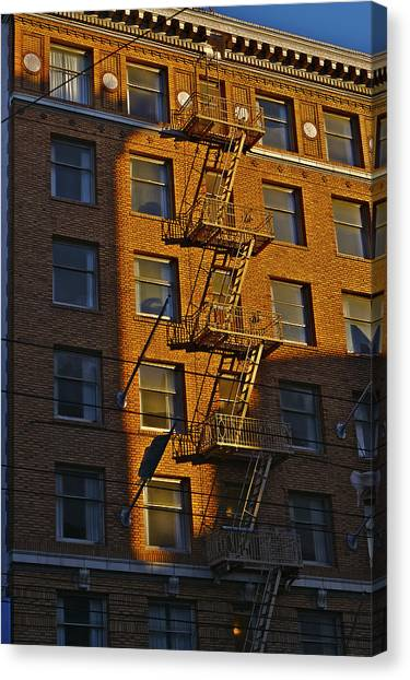 Market Street Area Building 4 Canvas Print