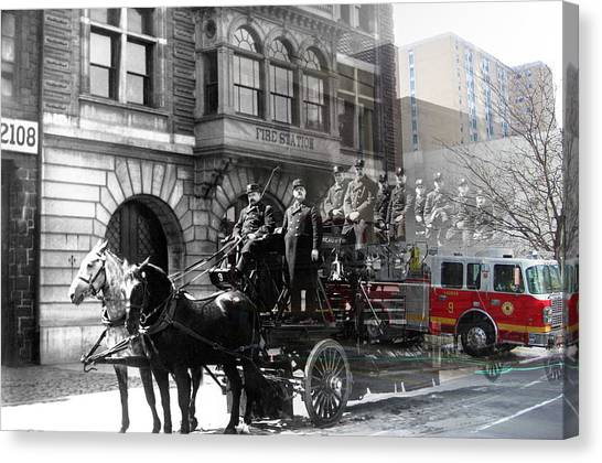 Market Street Fire Station Canvas Print